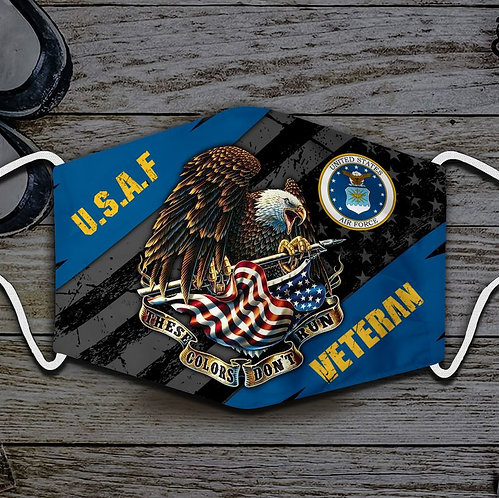 OFFICIAL-U.S.AIR-FORCE-VETERANS-PROTECTIVE-FACE-MASK/CUSTOM-3D-PRINTED DESIGN!!