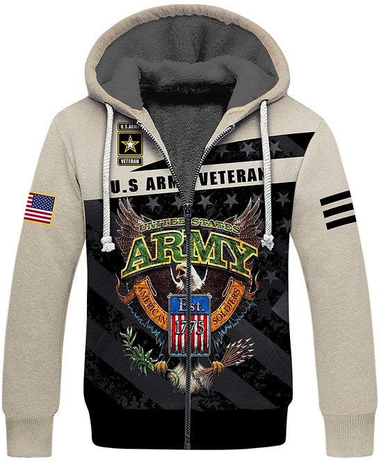 OFFICIAL-U.S.ARMY-VETERAN-FLEECE-LINED-HOODIES/NEW-CUSTOM-3D-ARMY-LOGOS-EST.1775