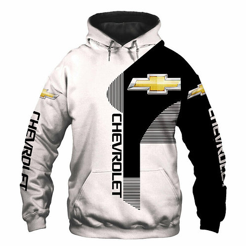 OFFICIAL-CHEVY-PULLOVER-HOODIES/CUSTOM-3D-GRAPHIC-PRINTED-DOUBLE-SIDED-DESIGN!!