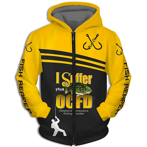 OFFICIAL-SPORT-FISHING-ZIPPERED-HOODIES/CUSTOM-FISH-REAPER & I-SUFFER-FROM-OCFD!