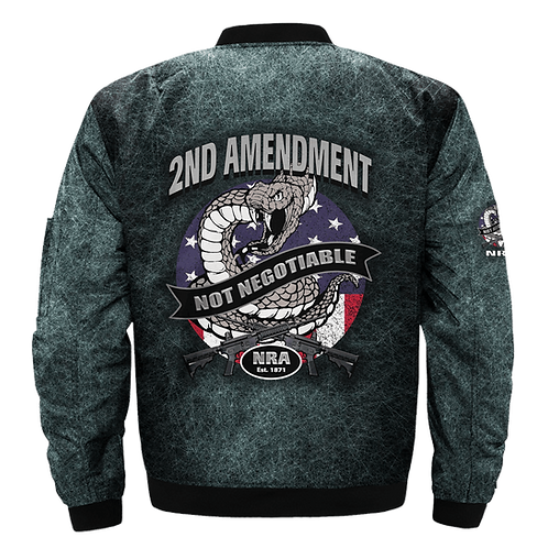 *(OUR-2ND-AMENDMENT/NOT-NEGOTIABLE/NEW-3D-CUSTOM-GRAPHIC-PRINTED-N.R.A.JACKETS)*