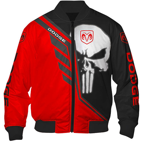 OFFICIAL-DODGE-RAM-FLIGHT-JACKETS/NEW-CUSTOM-3D-PRINTED-CLASSIC-PUNISHER-SKULL!!