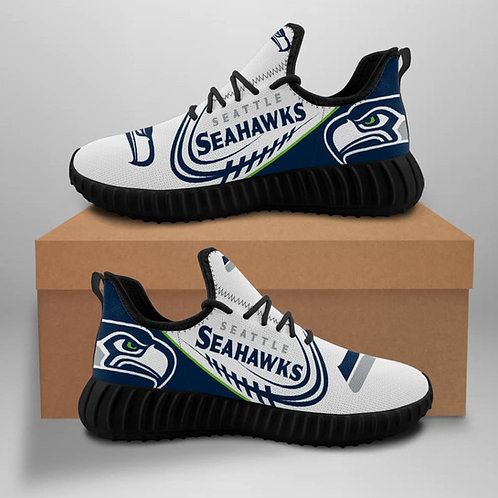 OFFICIAL-SEATTLE-SEAHAWKS-TEAM-BLACK-SPORTS-SHOE/CUSTOM-3D-DESIGN-SEAHAWKS-LOGOS