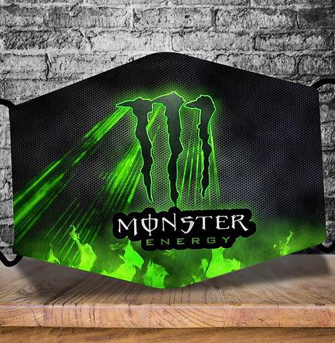 OFFICIAL-MONSTER-ENERGY-LOGOS-PROTECTIVE-FACE-MASK/CUSTOM-3D-PRINTED DESIGNED!!