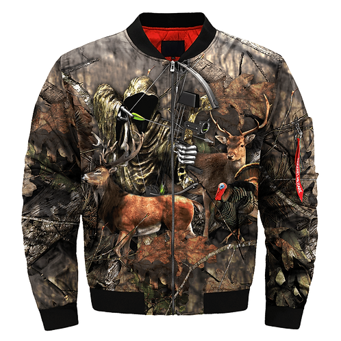 BIG-CAMO.TROPHY-DEER-BUCK & ARCHERY-HUNTERS-WILDLIFE-GAME-MIX/CUSTOM-CAMO.JACKET