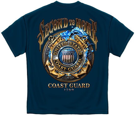 *OFFICIAL-COAST-GUARD-VETERAN/SECOND-TO-NONE,NEW-3D-CUSTOM-GRAPHIC-PRINTED-TEES*