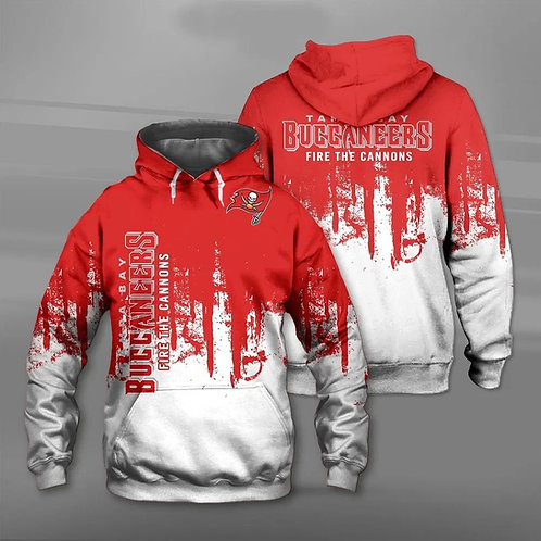 OFFICIAL-N.F.L.TAMPA-BAY-BUCCANEERS-TEAM-PULLOVER-HOODIES & FIRE-THE-CANNONS!!