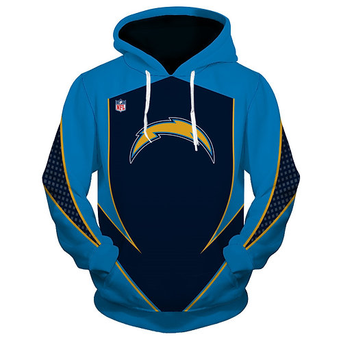 *OFFICIAL-N.F.L.LOS-ANGELES-CHARGES/NEW-3D-CUSTOM-PRINTED-TEAM-PULLOVER-HOODIES*