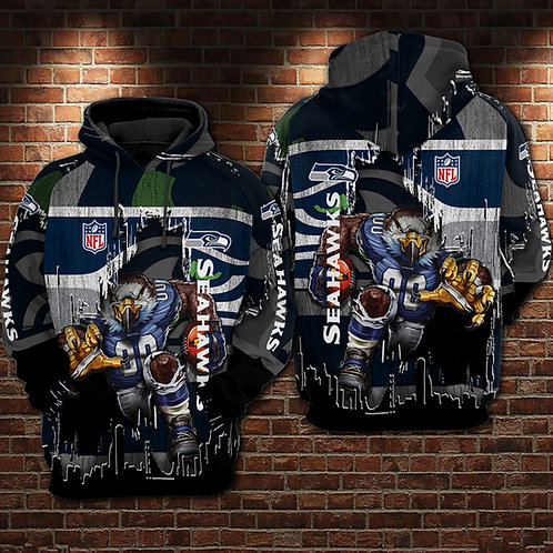 OFFICIAL-N.F.L.SEATTLE-SEAHAWKS-PULLOVER-HOODIES/NEW-CUSTOM-3D-GRAPHIC-PRINTED!