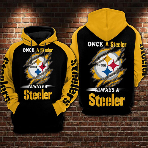 OFFICIAL-N.F.L.PITTSBURGH-STEELERS-PULLOVER-HOODIES/CUSTOM-ONCE-A-STEELER-FANS!!