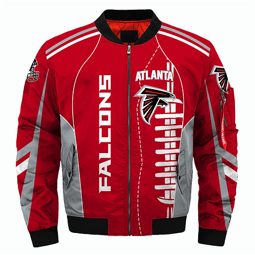 OFFICIAL-N.F.L.ATLANTA-FALCONS-3D-CUSTOM-JACKETS/CLASSIC-FALCONS-TEAM-COLORS!!