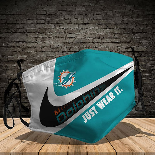 OFFICIAL-MIAMI-DOLPHINS-TEAM-PROTECTIVE-FACE-MASK/NEW-CUSTOM-3D-PRINTED DESIGNED