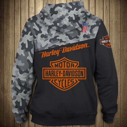 12467add OFFICIAL-HARLEY-DAVIDSON-PULLOVER-HOODIES/3D-CUSTOM-GRAPHIC-PRINTED -CAMO.HARLEY!