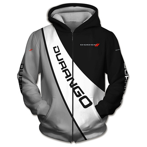 OFFICIAL-DODGE-DURANGO-ZIPPERED-HOODIES/CUSTOM-3D-GRAPHIC-PRINTED-DODGE-DESIGN!!