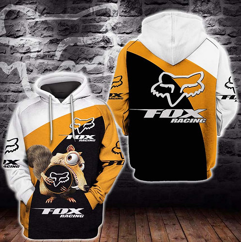 OFFICIAL-FOX-RACING-PREMIUM-FASHION-PULLOVER-HOODIE/CUSTOM-3D-ANIMATED-CHARACTER