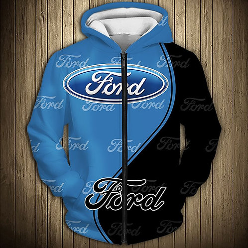 OFFICIAL-NEW-FORD-ZIPPERED-HOODIES/NICE-CUSTOM-3D-OFFICIAL-FORD-GRAPHIC-LOGOS!!