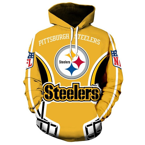 OFFICIAL-N.F.L.PITTSBURGH-STEELERS/NEW-3D-CUSTOM-GRAPHIC-PULLOVER-HOODIES