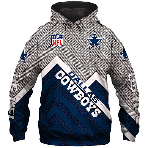 *NEW-OFFICIAL-N.F.L.DALLAS-COWBOYS/NEW-3D-CUSTOM-PRINTED-TEAM-PULLOVER-HOODIES*