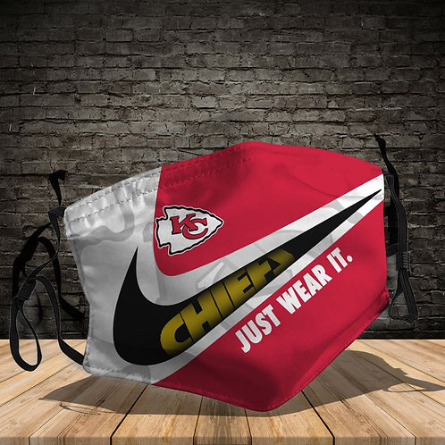 OFFICIAL-KANSAS-CITY-CHIEFS-TEAM-PROTECTIVE-FACE-MASK/CUSTOM-3D-PRINTED DESIGNED
