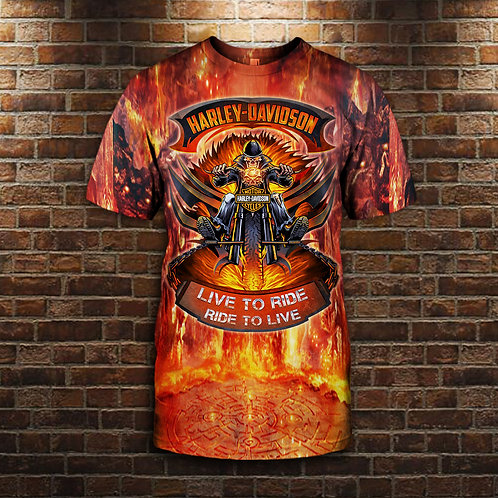 OFFICIAL-HARLEY-DAVIDSON-MOTORCYCLE-TEES/3D-CUSTOM-GRAPHIC-PRINTED-HARLEY-DESIGN