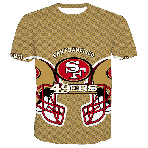 OFFICIAL-N.F.L.SAN-FRANCISCO-49ERS/3D-CUSTOM-GRAPHIC-PRINTED/GAME-DAY-TEAM-TEES!