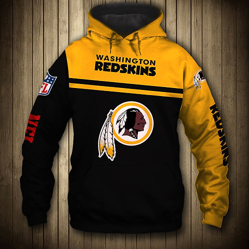 OFFICIAL-N.F.L.WASHINGTON-REDSKINS-TEAM-PULLOVER-HOODIES/ALL-CUSTOM-3D-GRAPHICS!