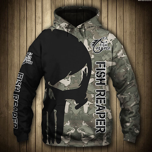 OFFICIAL-PUNISHER-SKULL-CAMO.PULLOVER-HOODIES/CUSTOM-3D-PRINTED-THE-FISH-REAPER!