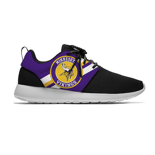 OFFICIAL-N.F.L.MINNESOTA-VIKINGS/NEW-LIGHT-WEIGHT-CUSHIONED-SPORT-RUNNING-SHOES!