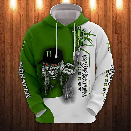 OFFICIAL-MONSTER-ENERGY-LOGOS-PULLOVER-HOODIES/NEW-CUSTOM-3D-MONSTER-MUMMY-SKULL
