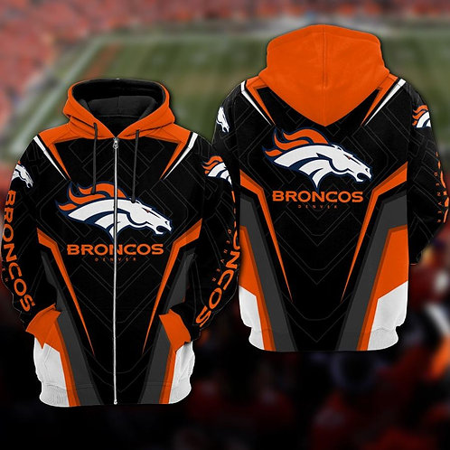 OFFICIAL-N.F.L.DENVER-BRONCOS-TEAM-ZIPPERED-HOODIES/COSTOM-3D-GRAPHIC-DESIGNED!