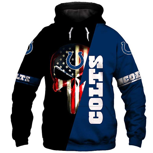 OFFICIAL-N.F.L.INDIANAPOLIS-COLTS-PULLOVER-HOODIES/CUSTOM-GRAPHIC-PUNISHER-SKULL