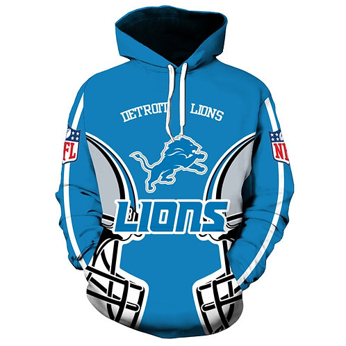 OFFICIAL-N.F.L.DETRIOT-LIONS-TEAM-PULLOVER-HOODIES/CUSTOM-3D-GRAPHIC-DESIGNED!!