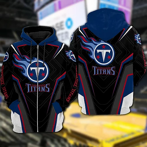 OFFICIAL-N.F.L.TENNESSEE-TITANS-TEAM-ZIPPERED-HOODIES/CUSTOM-3D-TITANS-DESIGNED!