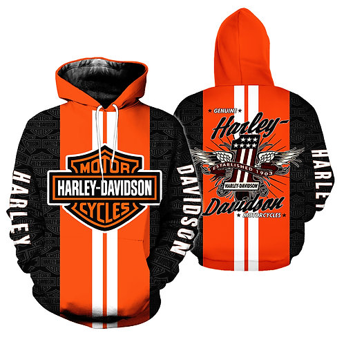 OFFICIAL-HARLEY-DAVIDSON-PULLOVER-HOODIES/CUSTOM-3D-GRAPHIC-PRINTED-HARLEY-LOGOS