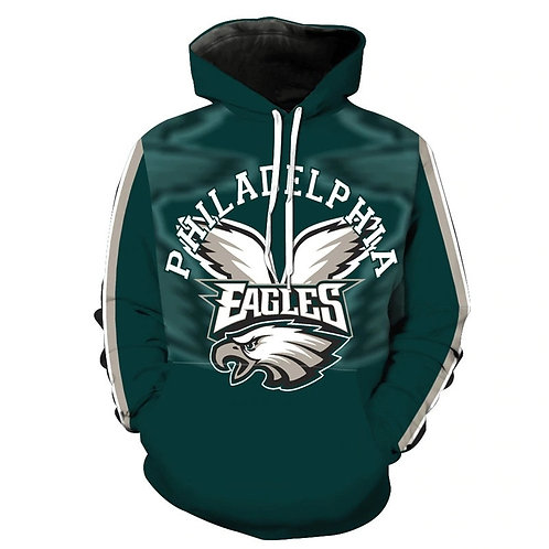 **(OFFICIALLY-LICENSED-N.F.L.PHILADELPHIA-EAGLES-TRENDY-PULLOVER-TEAM-HOODIES)**