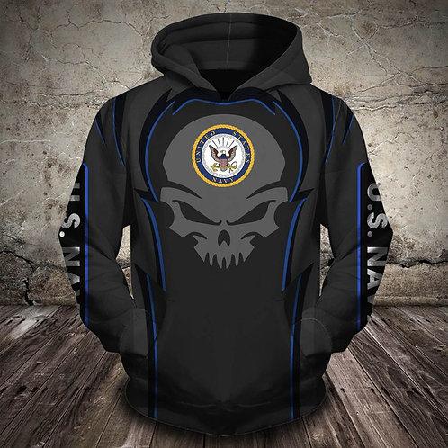 OFFICIAL-U.S.NAVY-VETERANS-PULLOVER-HOODIES/CUSTOM-GRAPHIC-3D-PRINTED-NAVY-SKULL