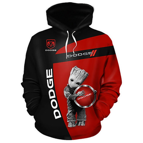 *OFFICIAL-NEW-DODGE-PULLOVER-HOODIES/NEW-3D-CUSTOM-PRINTED-DOUBLE-SIDED-HOODIES*