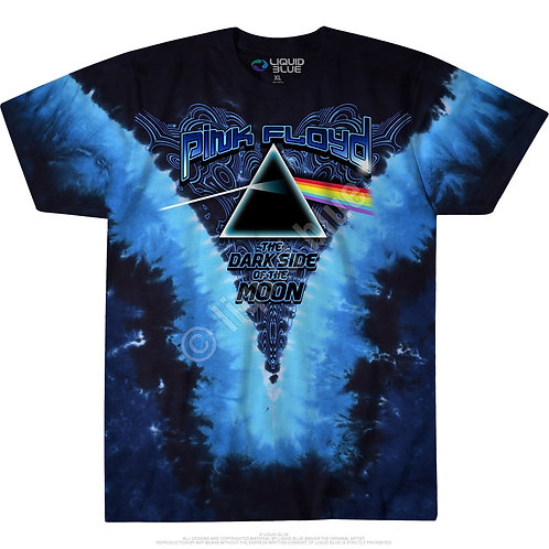 OFFICIAL-TYE-DYED-PINK-FLOYD/DARK-SIDE-OF-THE-MOON & CLASSIC-PRISM-3D-CUSTOM-TEE