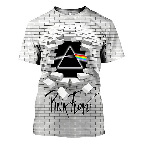 OFFICIAL-PINK-FLOYD/THE-WALL & PRISM-CONCERT-TEES/TRENDY-CUSTOM-3D-PRISM-DESIGN!
