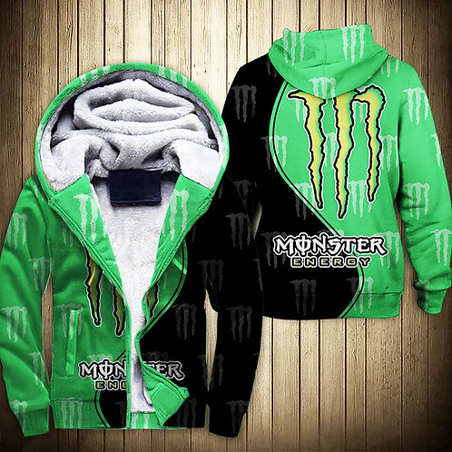 OFFICIAL-MONSTER-ENERGY-ZIPPERED-FLEECE-HOODIES/3D-GRAPHIC-PRINTED-DOUBLE-SIDED!