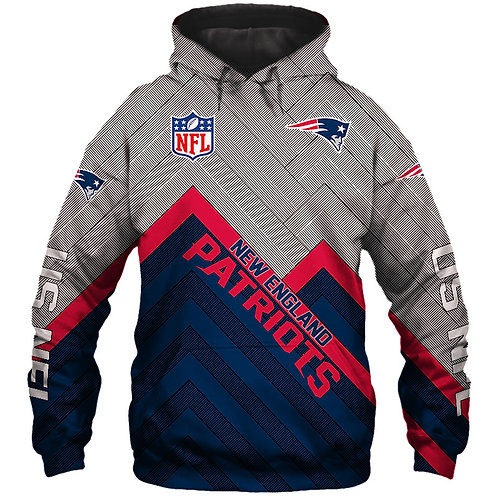 OFFICIAL-N.F.L.NEW-ENGLAND-PATRIOTS/NEW-3D-CUSTOM-PRINTED-TEAM-PULLOVER-HOODIES!