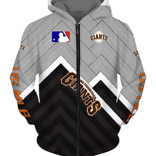OFFICIAL-M.L.B.SAN-FRANCISCO-GIANTS-TEAM-ZIPPERED-HOODIES/3D-CUSTOM-PRINT-DESIGN