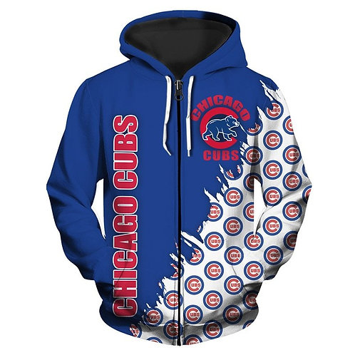 OFFICIAL-M.L.B.CHICAGO-CUBS-TEAM-ZIPPERED-HOODIES/3D-CUSTOM-DOUBLE-SIDED-PRINTED