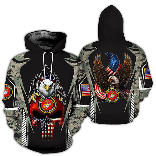 OFFICIAL-U.S.MARINES-PULLOVER-HOODIES/NEW-GRAPHIC-PRINTED-3D-CAMO.PUNISHER-SKULL