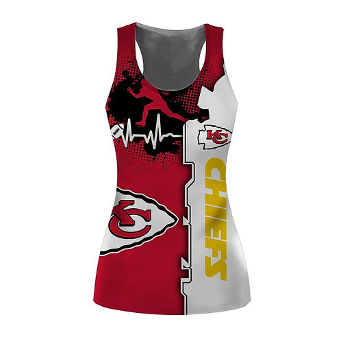 OFFICIAL-N.F.L.KANSAS-CITY-CHIEFS-TRENDY-SPORT-TEAM-TANK-TOPS/CUSTOM-3D-DESIGNED