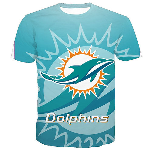 *OFFICIAL-N.F.L.MIAMI-DOLPHINS/NEW-3D-CUSTOM-GRAPHIC-PRINTED-TEAM/GAME-DAY-TEES*