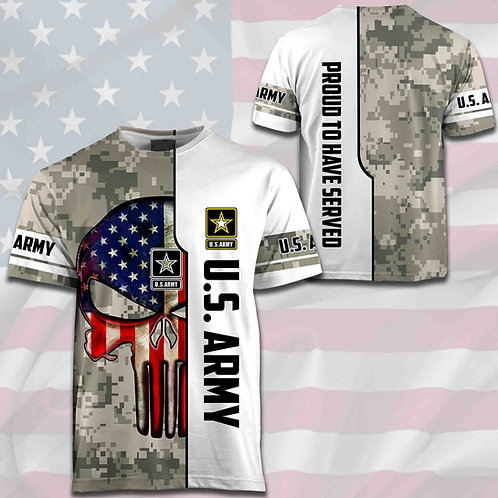 OFFICIAL-U.S.ARMY-DIGITAL-CAMO.TEES/NEW-CUSTOM-3D-GRAPHIC-PRINTED-PUNISHER-SKULL