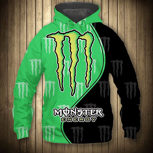 OFFICIAL-MONSTER-ENERGY-PULLOVER-HOODIES/CUSTOM-3D-GRAPHIC-PRINTED-DOUBLE-SIDED!