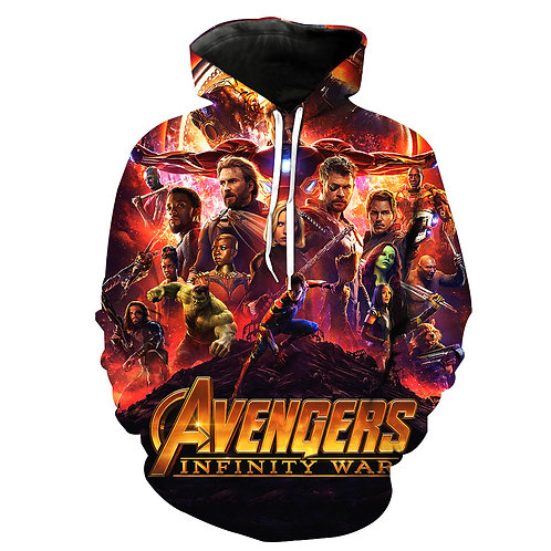 *(NEW-AVENGERS-INFINITY-WAR-MOVIE & CHARACTERS/NICE-3D-CUSTOM-PULLOVER-HOODIES*