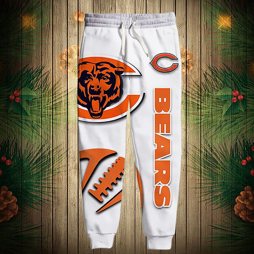 OFFICIAL-N.F.L.CHICAGO-BEARS-TEAM-SWEAT-PANTS/CUSTOM-3D-PRINTED-GRAPHIC-DESIGNED